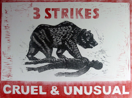 3 Strikes = Cruel & Unusual: Cali Bear stomps on prisoner