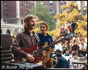 Phil Lesh & Bob Weir of The Grateful Dead at Columbia University, May 3, 1968.