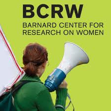 BCRW logo and woman with megaphone