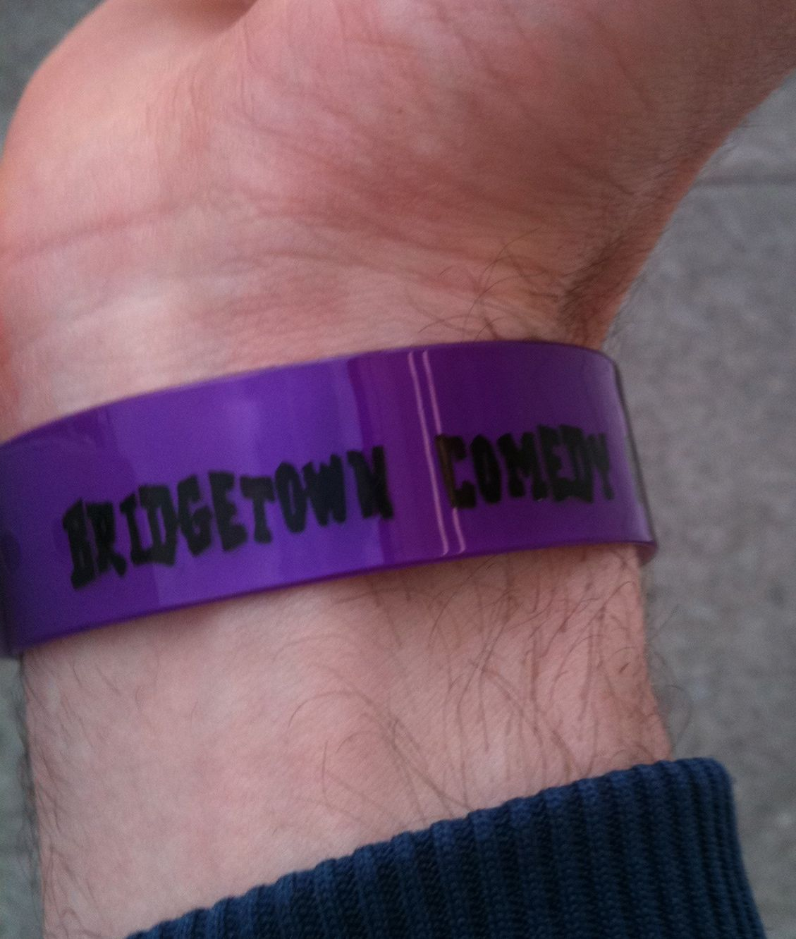 Bridgetown Comedy Wristband