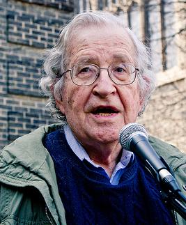 Photo of Noam Chomsky by Andrew Rusk