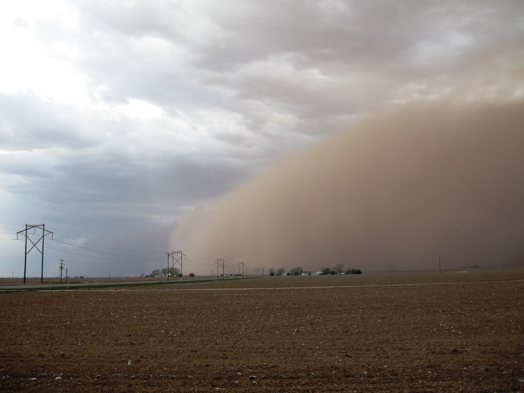 Dust storm in Texas, March 2013