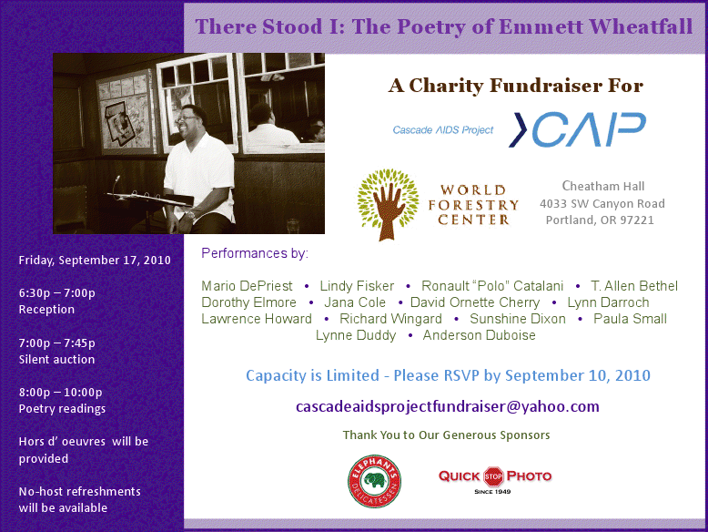 Cascade AIDS Project FUNdraiser presented by Emmett Wheatfall