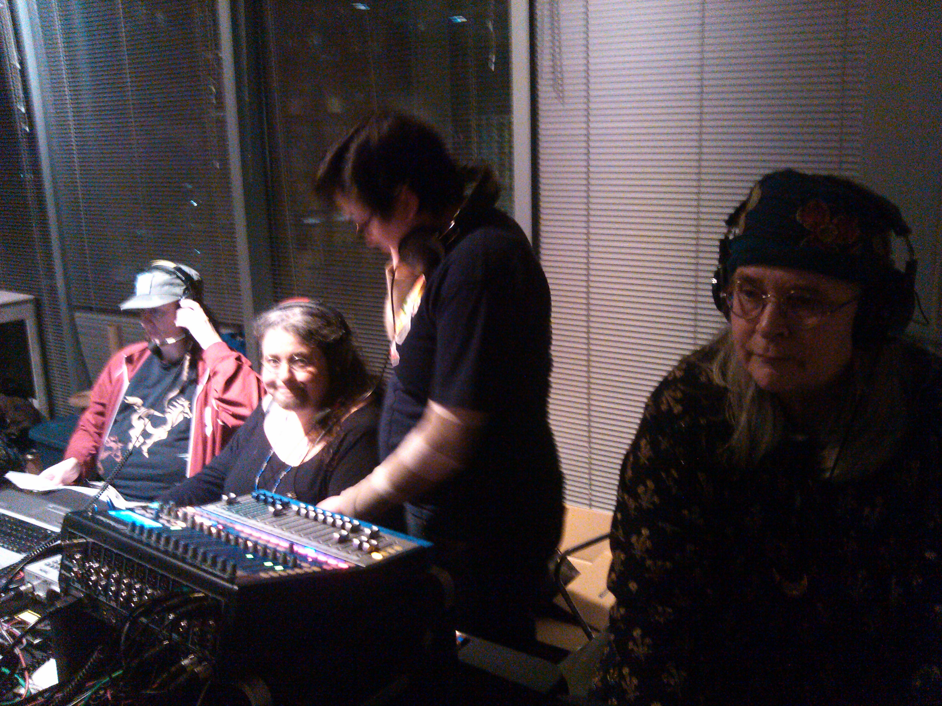 KBOO's All-women tech crew!