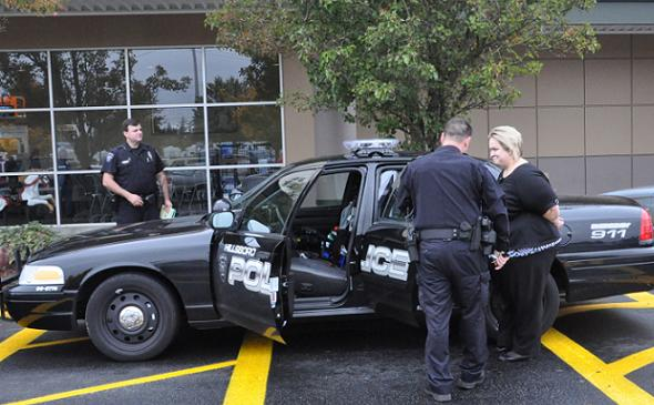 Jenny Reed, UFCW representative, arrested at Hillsboro Fred Meyer