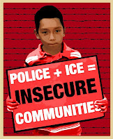 Police and Ice equals insecure communities graphic image
