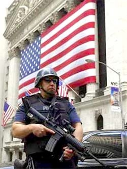 Armed police, Stock Exchange