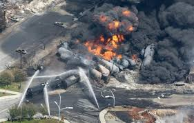 massive oil train fire in Quebec July 2013
