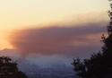 8-6-2012 toxic cloud from Chevron Refinery fire seen from Indian Rock, Berkeley