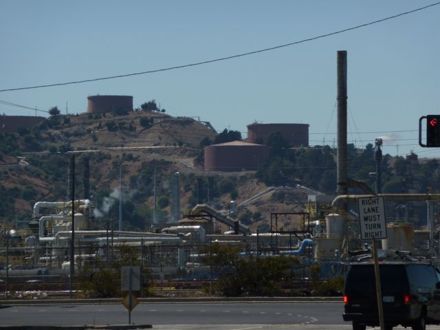Chevron Refinery as seen from nearby Richmond neighborhood