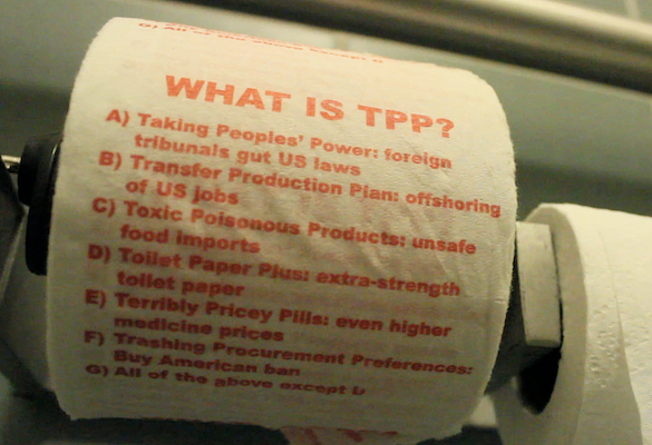 TPP toilet paper, printed with info re What is TPP?