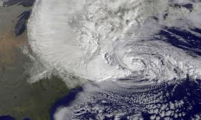Hurricane Sandy, satellite photo