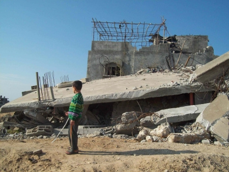 Homes destroyed in Jabalia, Gaza