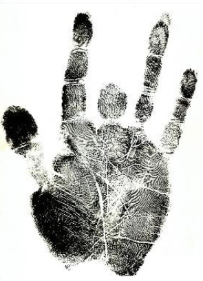 Jerry Garcia handprint.