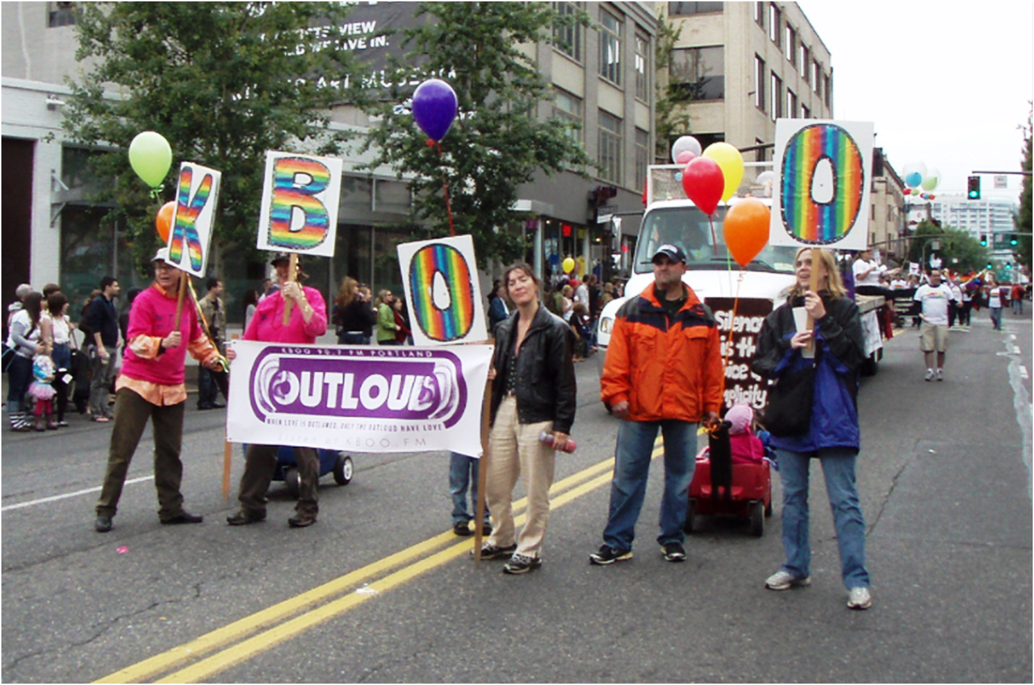 KBOO & Out Loud radio in Portland's Pride parade