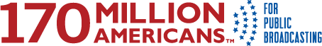 Logo for 170 million Americans for public broadcasting.