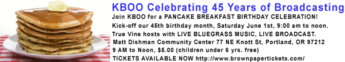 KBOO PANCAKE BREAKFAST JUNE 1 2013