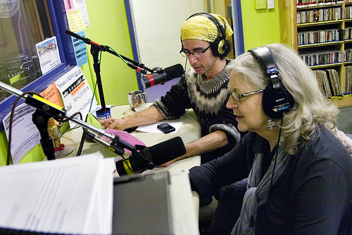 volunteers raising money for KBOO