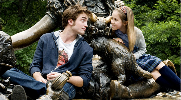 Vapid Robert Pattinson in Remember Me, with Ruby Jerins