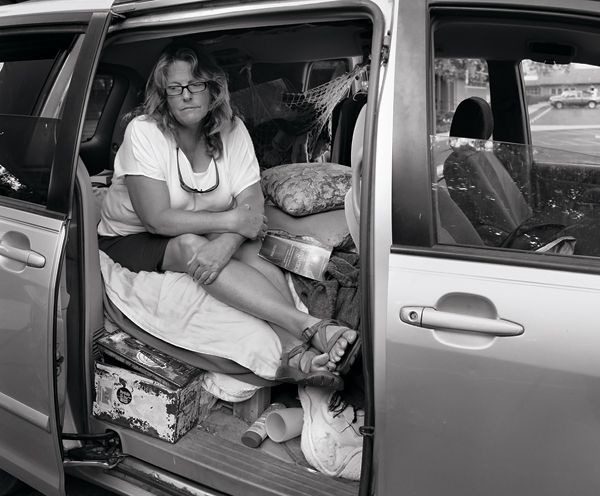 A growing number of homeless live in their cars