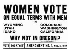 Women Vote: Why not Oregon