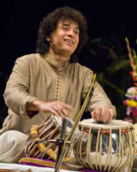 Zakir Hussain playing tabla.