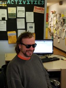 Volunteer at front desk