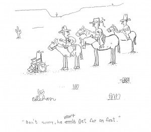 John Callahan, the subject of Gus Van Sant's biopic Don't Worry, He Won't Get Far On Foot, talks with Words and Pictures' Bill Dodge and S.W. Conser in 2005
