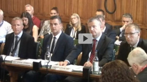 L to R: Chief Inspector Jason Kew, Drugs Policy Lead, Thames Valley; Assistant Chief Constable Steve Johnson, Police Scotland; and Superintendent Kevin Weir, Durham Police; Professor Alex Stevens, University of Kent, Advisory Council on Misuse of Drugs.
