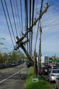Power Lines down in Puerto Rico