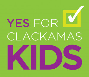 """Logo for ballot measure campaign that reads """"Yes for Clackamas Kids"""""""