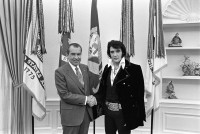 Richard Nixon with Elvis Presley. Photo courtesy of the White House / National Archives