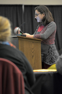 Cecile Gernez testifying at Kalama Methanol SEIS hearing December 2018