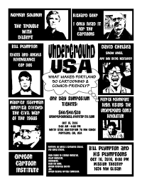 Flyer for the Underground USA symposium October 15 at the University of Oregon's Portland campus
